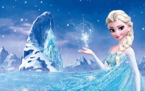 Elsa Frozen Kids Poster Fantasy Disney Movie Sizes A4 to A0 UK SellerE105