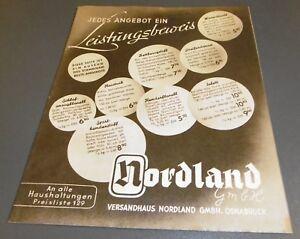 Versandhaus Katalog Heft Alt Nordland Osnabrück Stoffe Kleidung