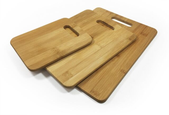 3pcs Set Bamboo Chopping Board Set Kitchen Serving Cutting Wooden BPA Free Plate