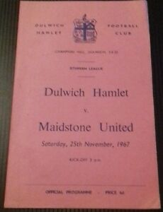 Dulwich-Hamlet-v-Maidstone-United-Programme-25-11-67