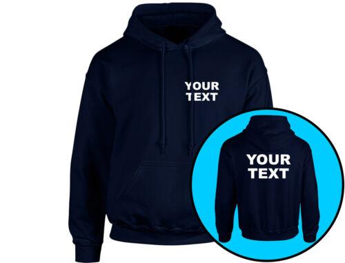 8 colori Il vostro testo personalizzato Workwear Unisex Felpa con cappuccio