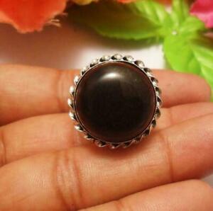 Black Onyx Gemstone Adjustable Ring
