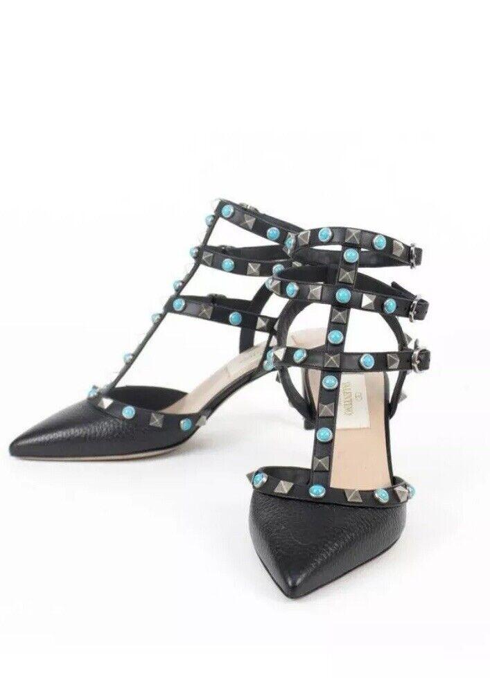 Valentino  Garavani Rockstud Rolling Pumps Sandal Heels Size Us 10 10.5 Euro 41
