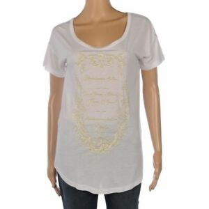 PINKO-T-Shirt-White-Short-Sleeved-Relaxed-Fit-College-Text-Size-Small-FX-918