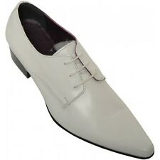 GUCINARI 29995 CLASSIC CASUAL ITALIAN MEN LEATHER SHOE WHITE NEW 40
