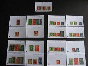 Sales cards stock breakdown, NORWAY stamps unverified, worth having a look at em