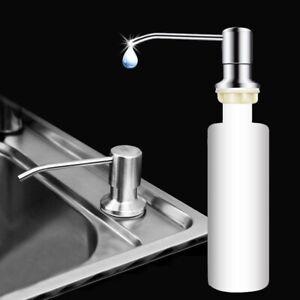 Bouteilles-en-Acier-Inoxydable-Tete-savon-distributeur-salle-de-bain-cuisine-pour-evier-Detergent