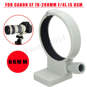 66mm-Metal-Tripod-Mount-Lens-Collar-Ring-For-Canon-EF-70-200mm-f-4L-IS-USM-White