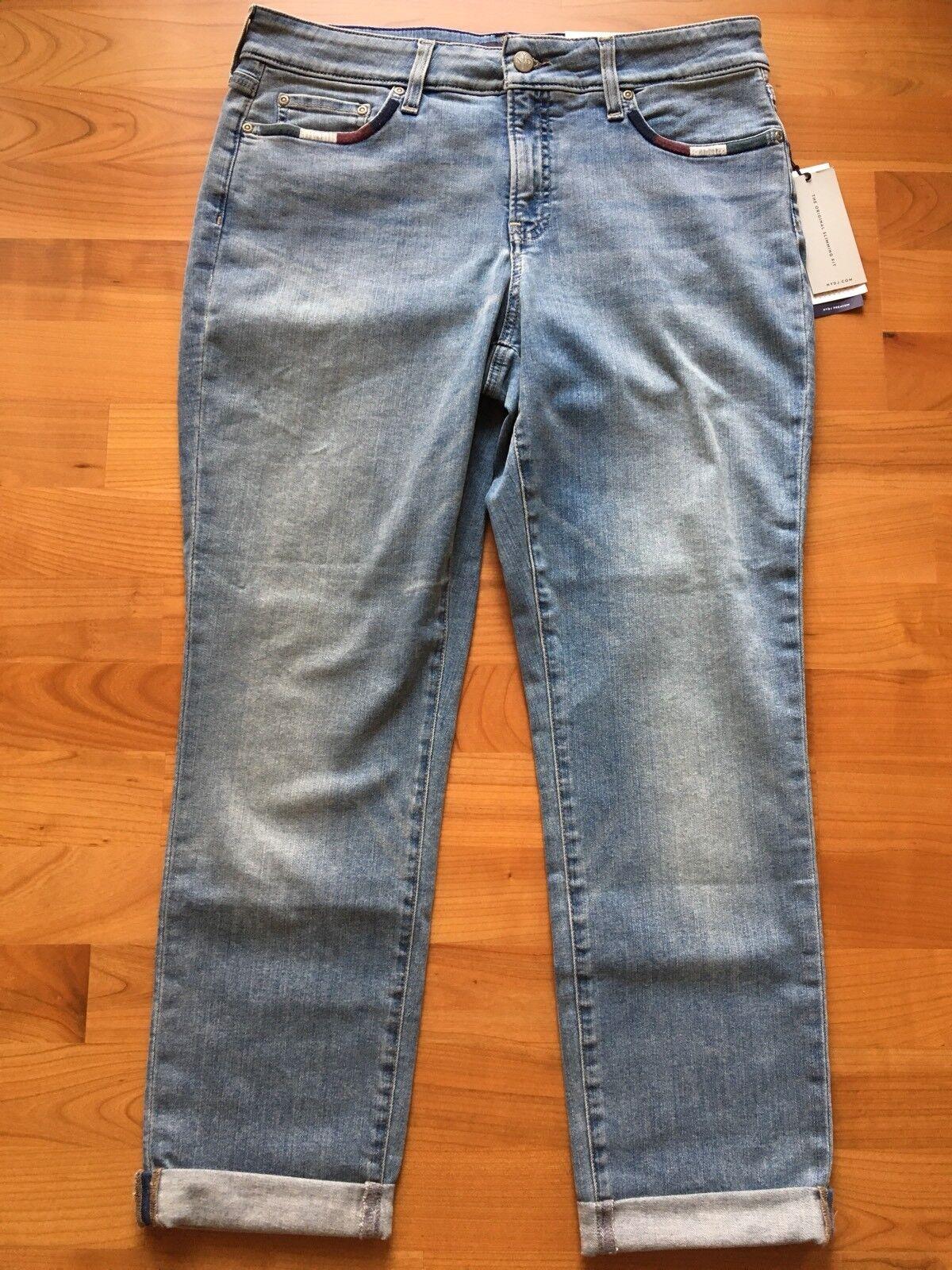 NYDJ Boyfriend Jeans Wrap Stitch Detail Westland M66Z2032 Sizes 12 and 14