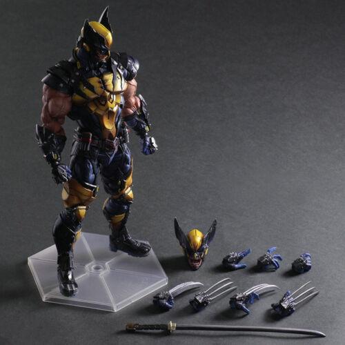 Marvel Universe Play Arts Kai Wolverine Variant Square Enix Action Figure Statue