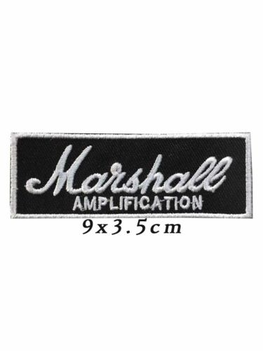 MARSHALL AMPLIFICATION PATCH Embroidered Iron On Logo AMPLIFIER AMP Badge NEWA11