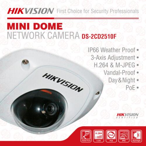 4mm Lens Hikvision DS-2CD2510F HD Mini Dome Network Surveillance Camera,1.3 MP