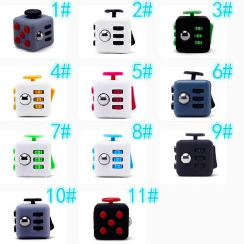 Magic Fidget Cube Anxiety Stress Relief Focus 6-side Black Calm Toy Gift Random