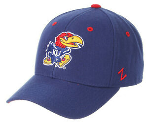 KANSAS-JAYHAWKS-NCAA-ROYAL-BLUE-FITTED-SIZED-ZEPHYR-DH-STYLE-CLASSIC-CAP-HAT-NEW