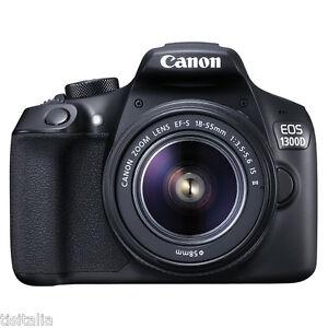 Fotocamera-Reflex-CANON-EOS-1300D-EF-S-18-55-IS-II-Sensore-CMOS-18Mpx-Full-HD