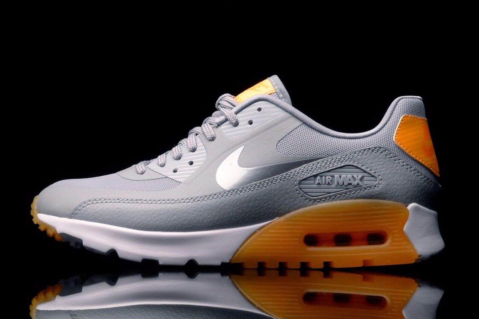 Nike Air Max 90 Ultra Essential Wmn Size 11 724981-004 Wolfgrey Orange