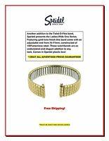 Speidel Ladies' Twist-o-flex Wide Adjustable End 11-14mm Gold-tone