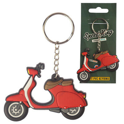 Scooter Moped Keyring Novelty Motorbike Silver Colour Keychain