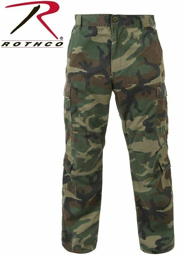 redHCO 2586 Vintage Woodland Camouflage Paratrooper Pants Military BDU XS TO 5X