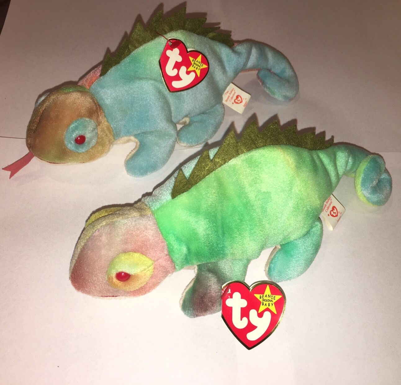 Lot Of 2 RARE FIRST GENERATION  IGGY  BEANIE BABY New 1997 ty