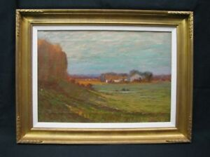 A-Francis-Wattson-19th-Century-Impressionist-Oil-on-Canvas-Rural-Landscape