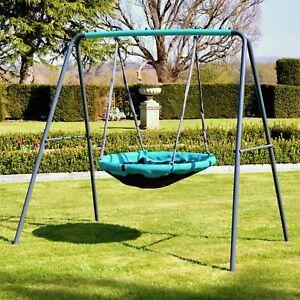 Rebo UFO Disc, Crows Bird Nest, Basket Spider Web Metal Swing Set