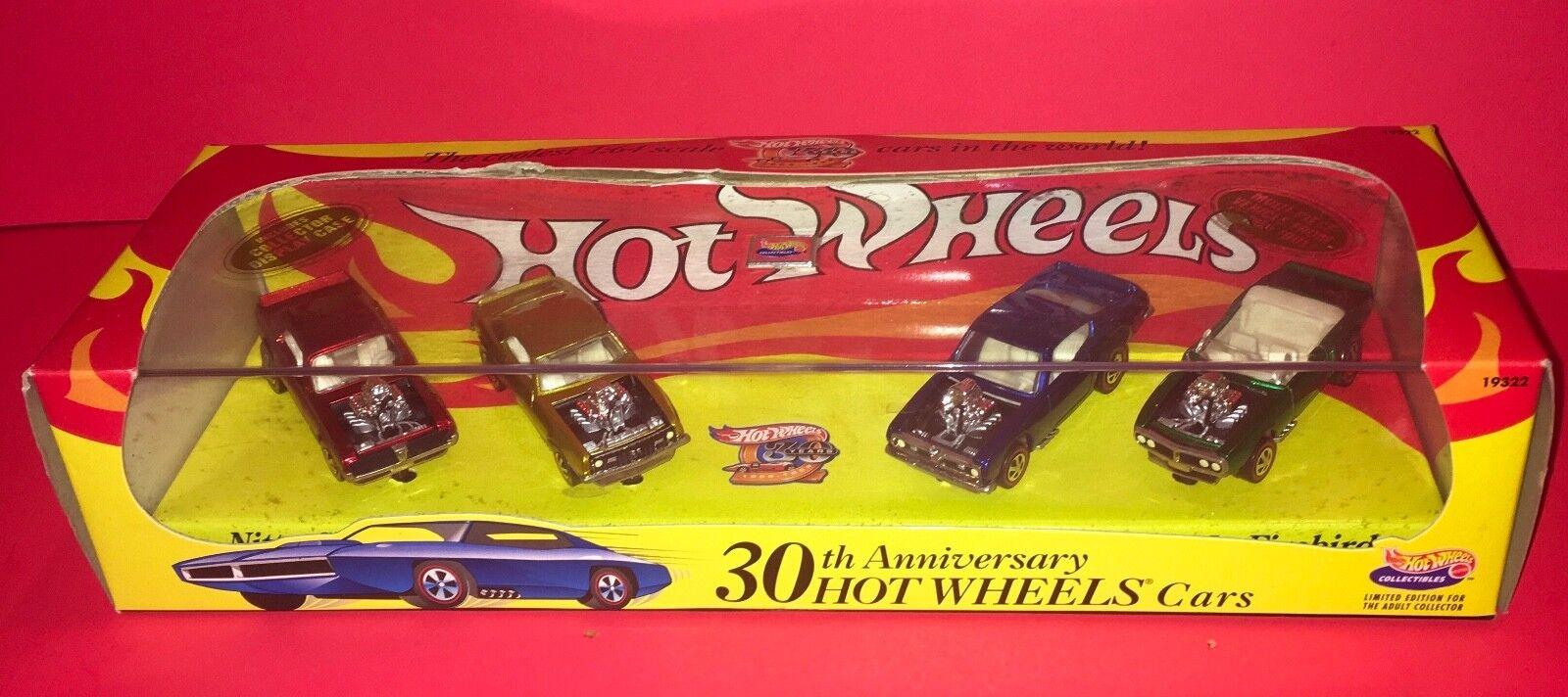 1998 Hot Wheels 30th Aniversario De Autos Hot Wheels 4 Coche Nuevo Conjunto en caja