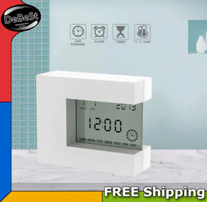 Digital Alarm Clock Desk W/ Home Thermometer Count Down Timer Time Calendar Rota