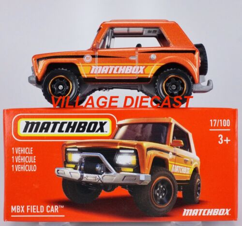 2021 Matchbox Power Grabs #17 MBX Field Car™ ORANGE METALLIC MATCHBOX MIB