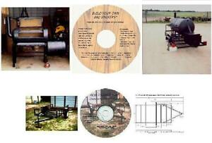 Details about Combined BBQ Smoker, Recipes, and Trailer Plans CD