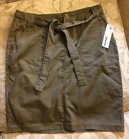 Women's Sonoma Skirt Spring Vine Color Size 8 Tie Sash Back Pockets Ladies