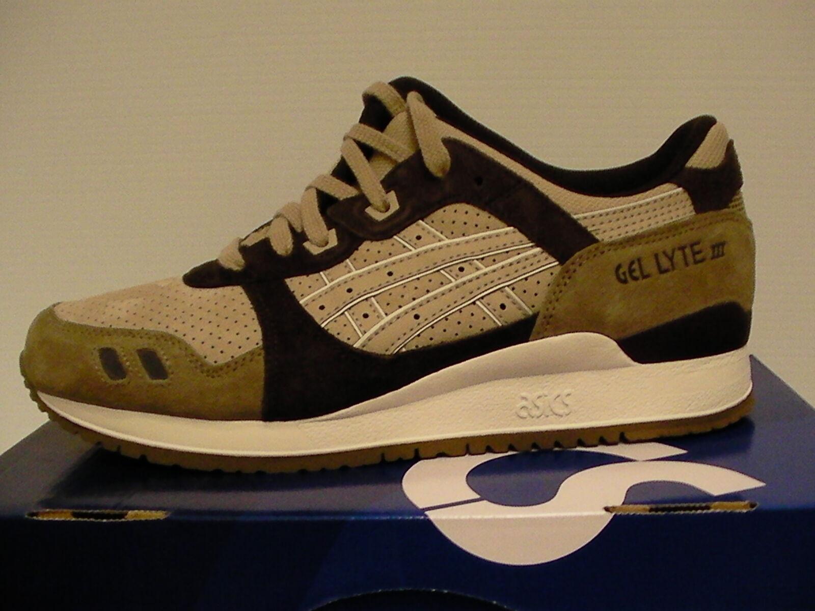 Le scarpe da corsa gel lyte iii dimensioni con 10,5 noi uomini nuovi con dimensioni scatola di sabbia 448e20