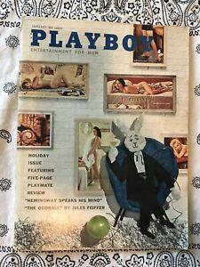 Playboy-January-1961-Vol-8-No-1-Vintage-Very-Fine-Hemingway-Weed-Feiffer