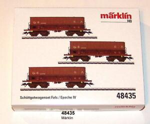 Marklin-48435-Erzwagen-Set-Mineralier-der-SNCB-3-teilig-NEU-in-OVP