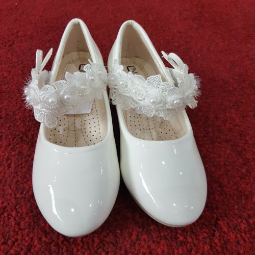 Party Flower-Girl White-66-12 Girls Shoes Bridesmaid Communion Christening