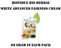 Biotique Herbal White Advanced Fairness Treatment Brightening Cream Pack Of 1