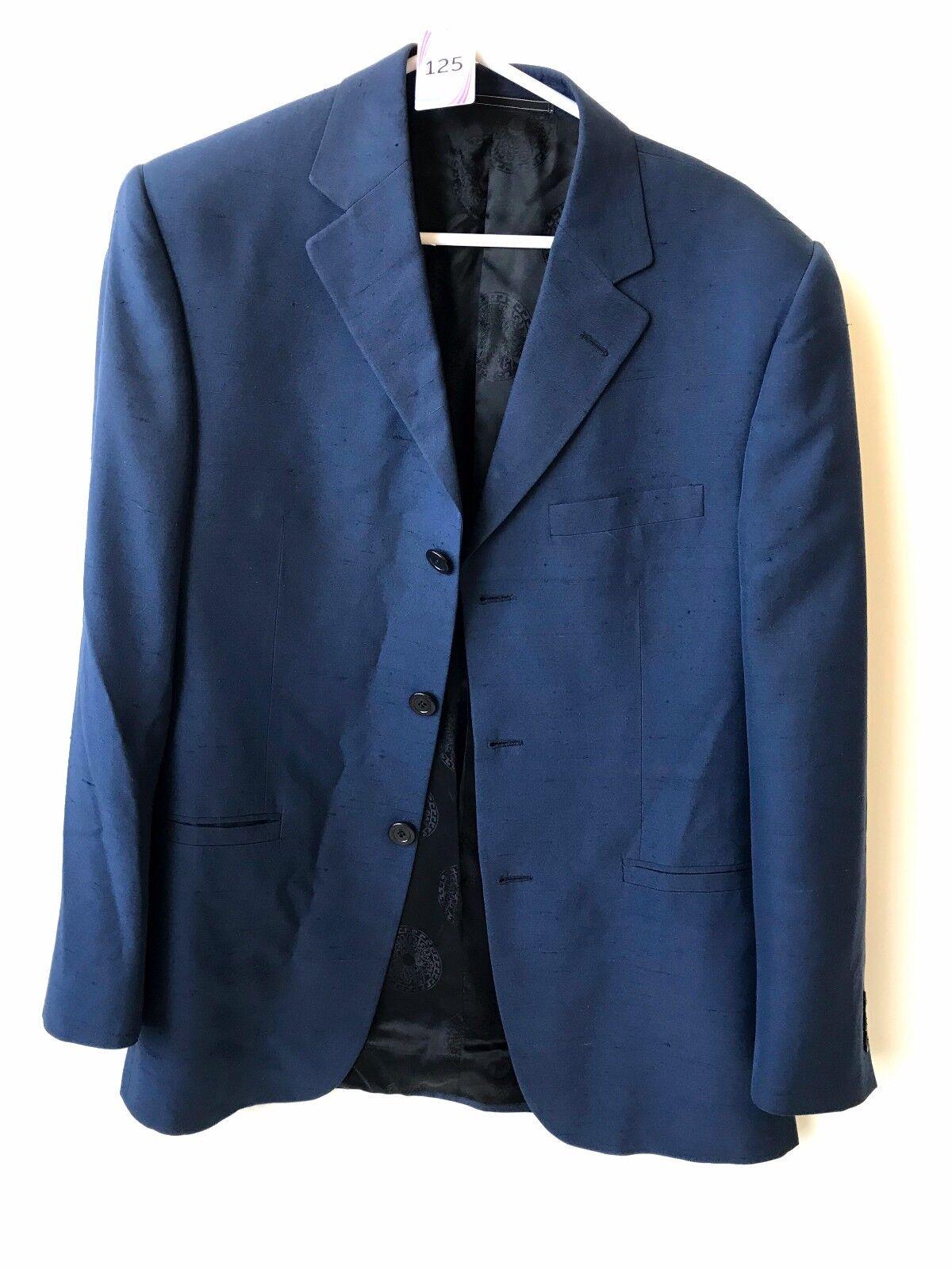 VERSACE CLASSIC V2 28S3IN Herren DARK Blau SPORT COAT SIZE 46 MADE IN ITALY