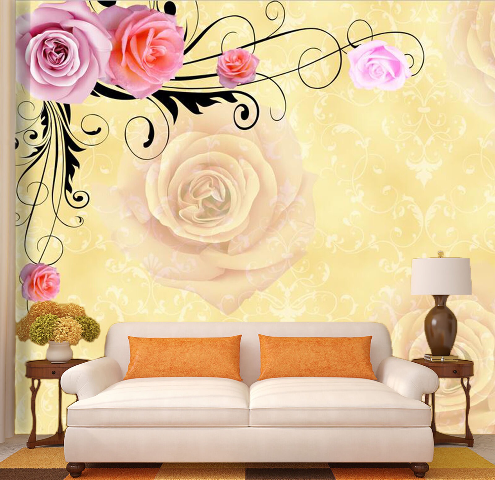 3D Flowers & Printings 2444 Paper Wall Print Wall Decal Wall Deco Indoor Murals