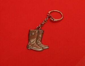 Wellington-Boots-Pewter-Key-Ring-Gardening-Farmer-Gift