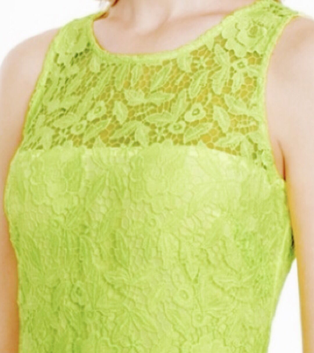 J Crew Collection A8182 Women's Lace Sheath Neon Yellow Dress Dress Dress 2 64a1e5
