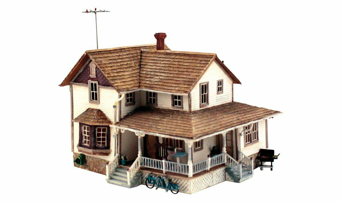 5196 Woodland Scenics esquina porche House-Escala Ho Kit de estructuras de referencia