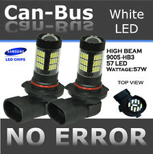 9005-HB3 Samsung LED 57 SMD Super White 6000K Headlight Xenon Light Bulb Hi Beam