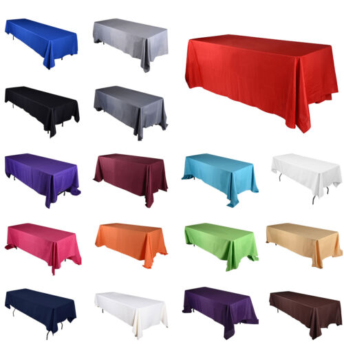 """TulleShop 60/"""" Inch x 102/"""" Rectangular Polyester Tablecloth Cover Wedding Party"""