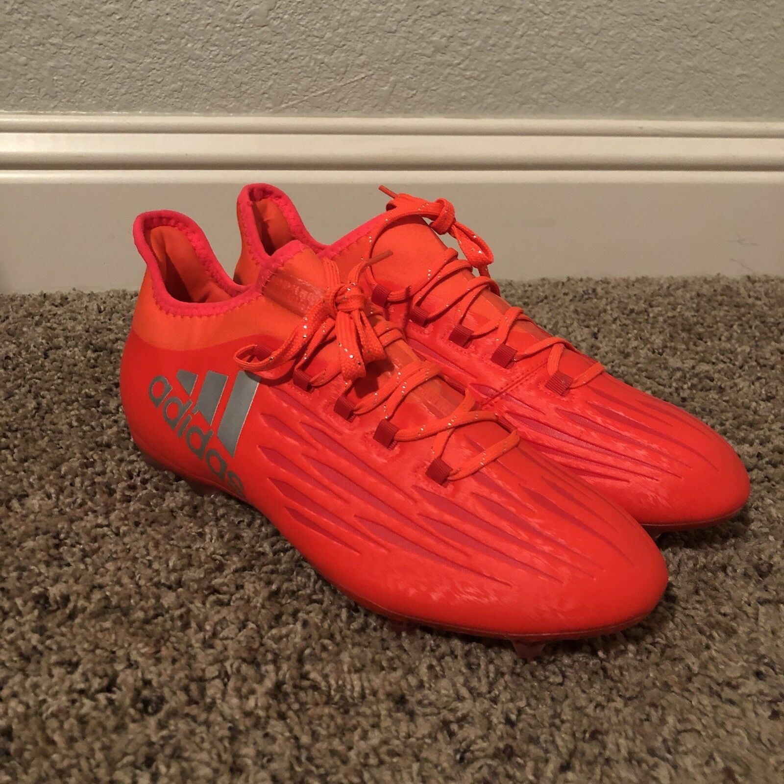 Adidas X 16.2 FG Solar orange Soccer Cleats  S79538 Size 9.5