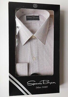 Spence Bryson Deluxe Con Motivo Shirt Vintage 1970s 1980s Colletto Taglia 16 Inutilizzati-mostra Il Titolo Originale