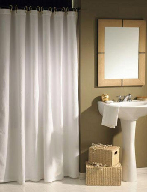 CLEARANCE Solid White Shower Curtain 2m Long Black Rgs Free Shipping
