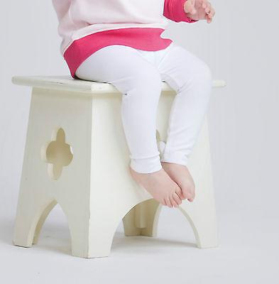 Larkwood Baby Girl Plain Leggings White 3-4