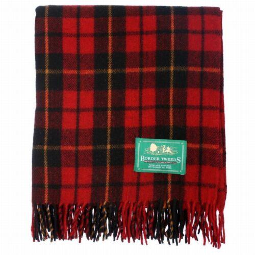 Colours New BNWT Scottish Throw Large Wool Tartan Rug Range of Tartans
