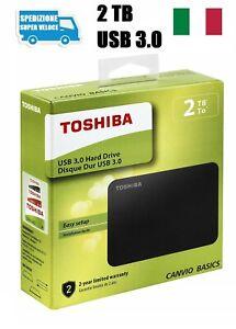 Hard-Disk-Esterno-2TB-USB-3-0-2000GB-Toshiba-Canvio-Basics-2-5-034-Memoria-Esterna