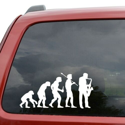Evolution Saxophone Player Vinyl Decal Decor Sticker